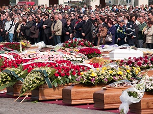 A mass funeral for some of the scores of people who died in the Italian earthquake, leaving behind families and friends requiring immediate and long-term support.