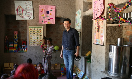 Rishi Khosla at an early childhood development centre run by Seva Mandir