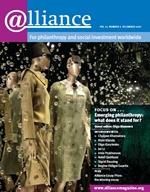 Alliance magazine - Debember 2009