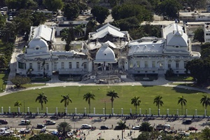 Haitian national palace after the earthquake