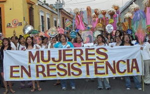 Women's rights demonstration in Mexico