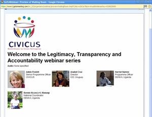 CIVICUS screenshot