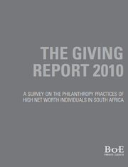 The Giving Report 2010