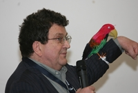 Barry Knight and his parrot