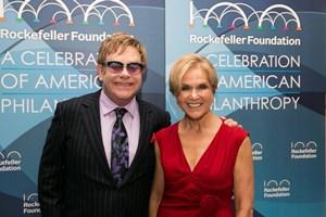 Rodin and Elton John, October 2013