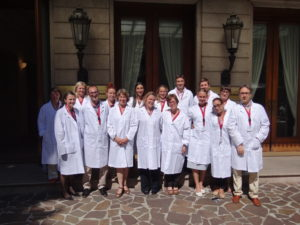 The lab coats are a European Learning Lab tradition