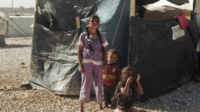 59 Syrian children in refugee camp 076