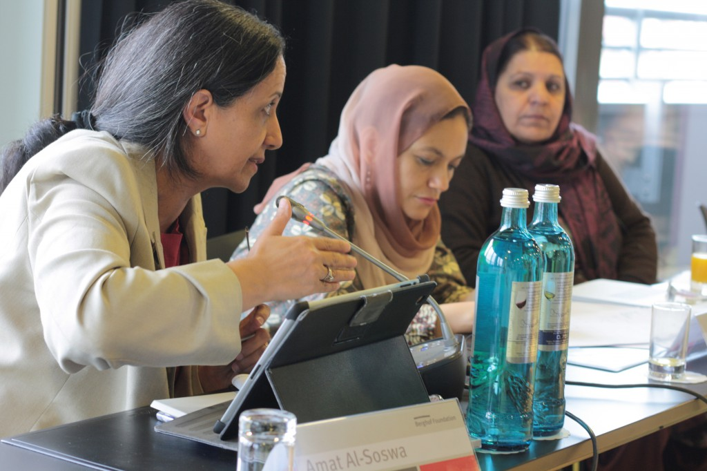 Conference organized by the Berghof Foundation for female members of the High Peace Council of Afghanistan and political advisers to the Joint Secretariat, Berlin, March 2014.