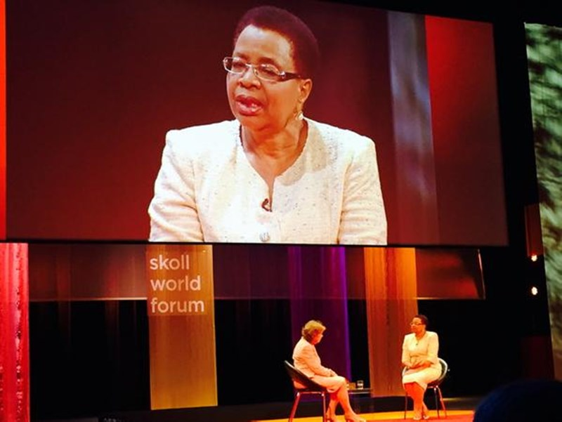 Graca Machel at the Skoll World Forum-1