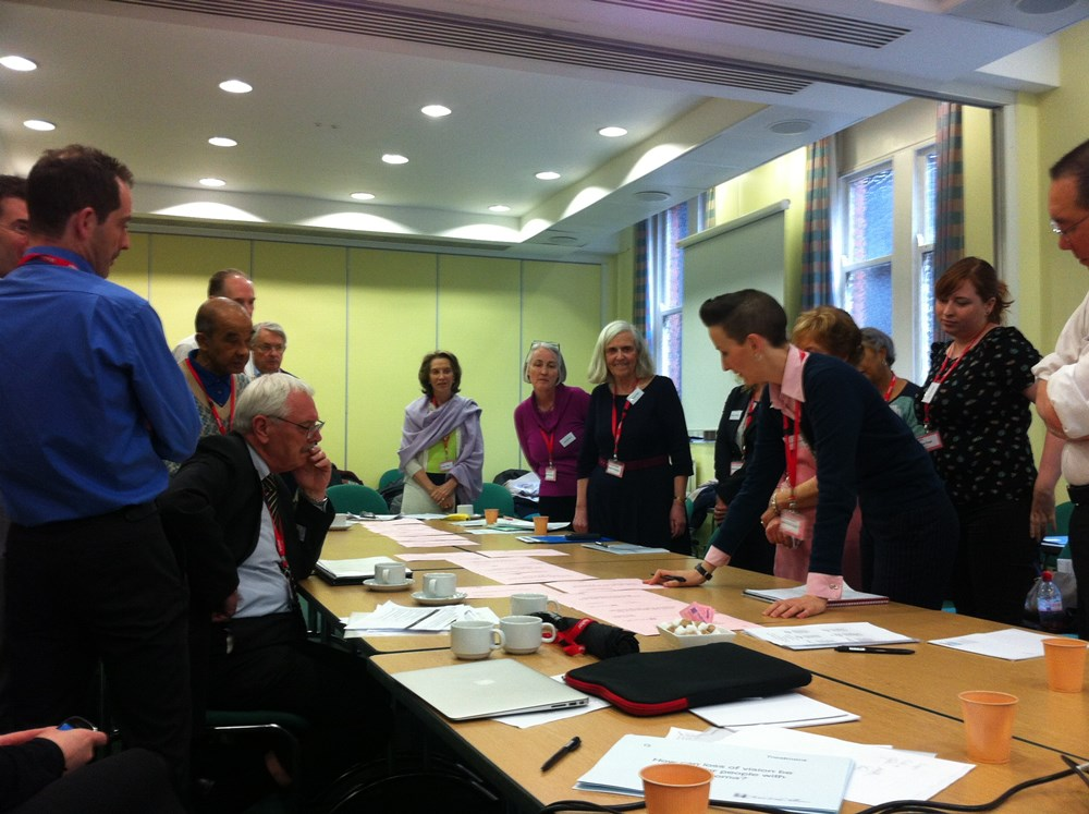 JLA Workshops for the sight loss and vision PSP.