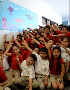 Students of Momentous School in Dallas, Texas.