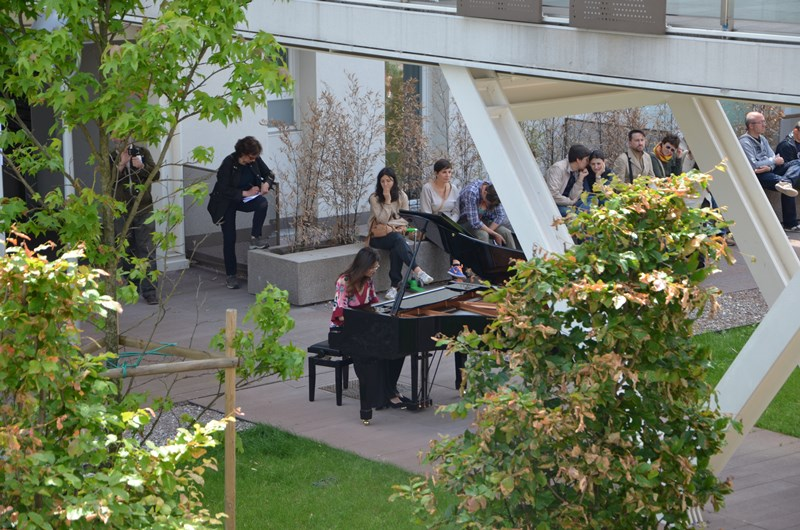 'Piano City' was a one-day event organized at the Via Cenni social housing project.