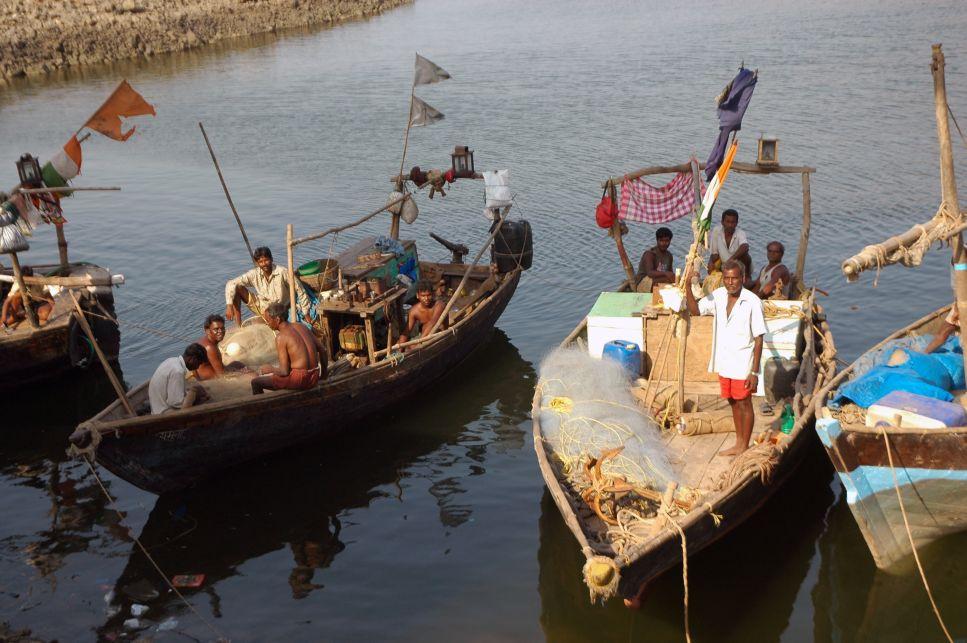 Fishermen of Maharashtra in their boats