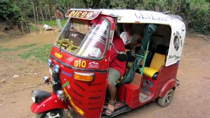 Three-wheel taxi in Juayua, El Salvador., CREDIT: David Stanley