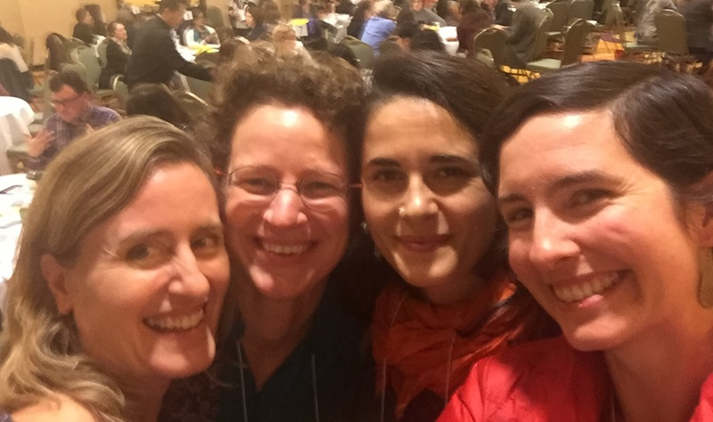 Diana Samarasan, Founding Executive Director of the Disability Rights Fund; Nadia van der Linde, Coordinator of the Red Umbrella Fund; Nevin Öztop, Resource Mobilization Officer of FRIDA; and Katy Love, Senior Program Officer at Wikimedia.