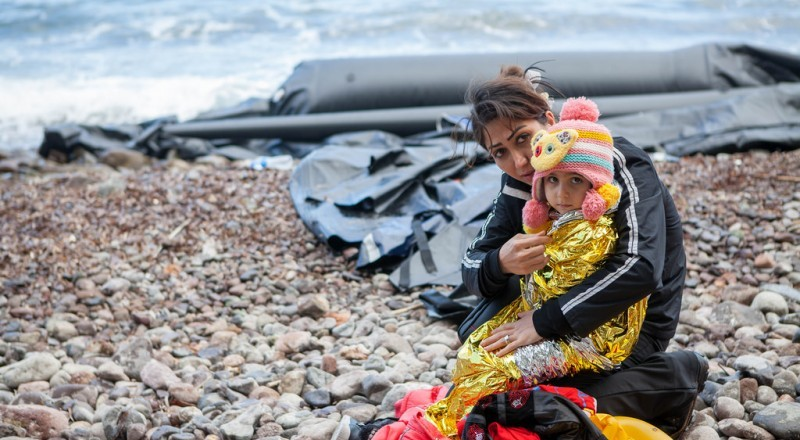 Arrivals in Lesvos. Credit: CAFOD Photo Library.
