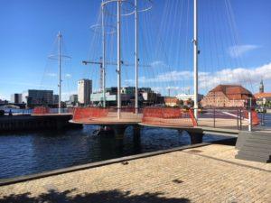 The Cirkelbroen bridge, a gift from Nordea-fonden to the City of Copenhagen.