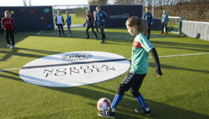 Nordea's-fonden's project with the Danish Football Association which promotes a more active lifestyle