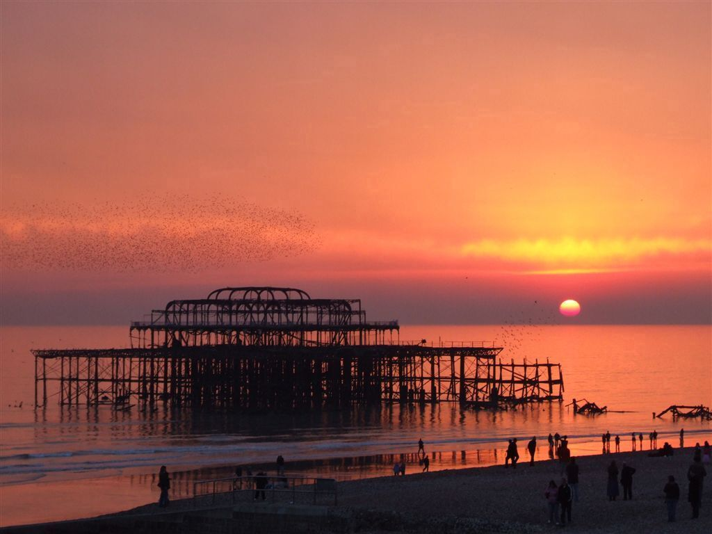 Brighton, UK, West Pier. Twilight or new dawn for corporate foundations?