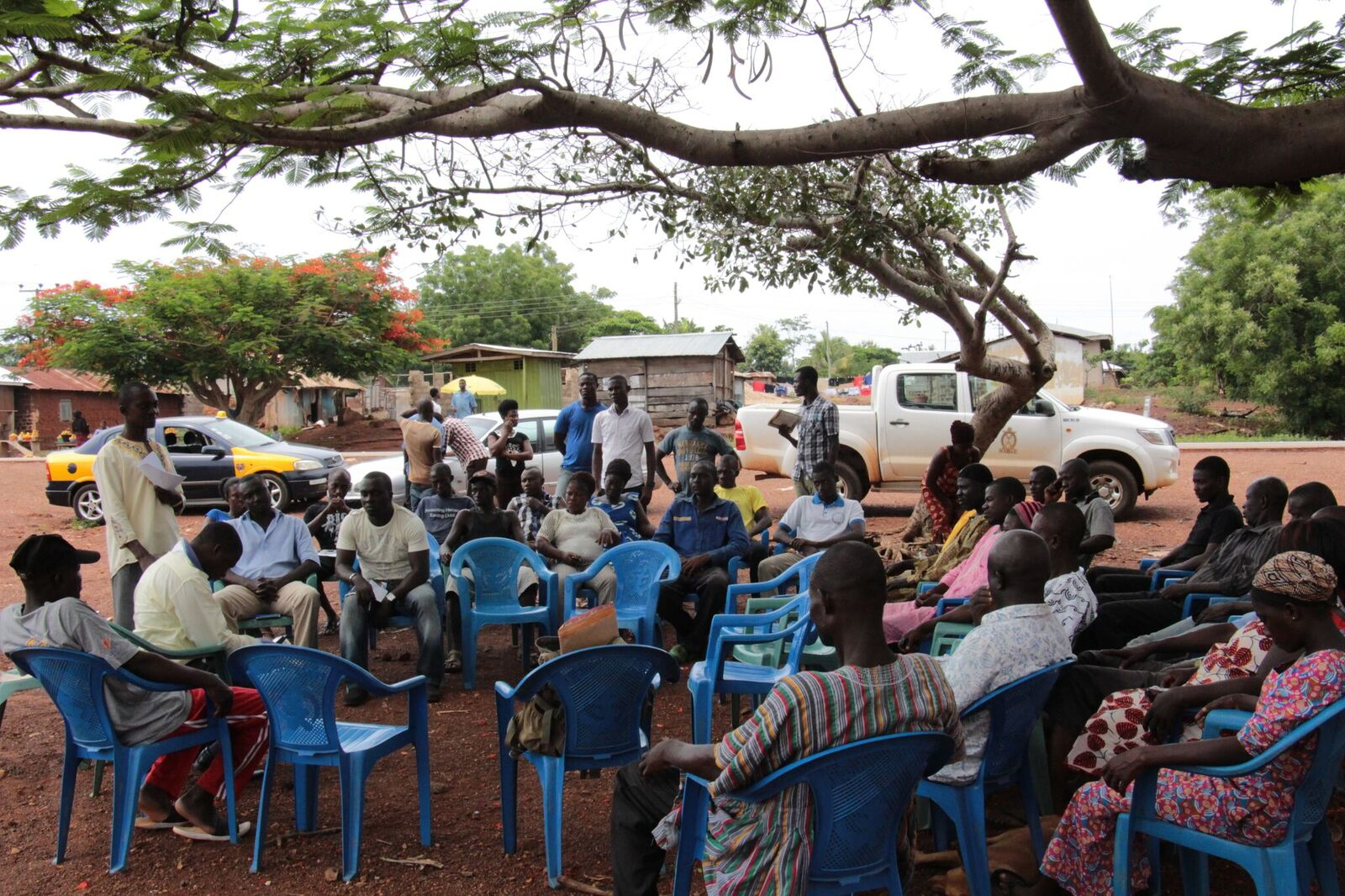 Community Engagement at Afrisipakrom in the Tano North District, 2015. Picture credit: Sabina Adu-Wusu