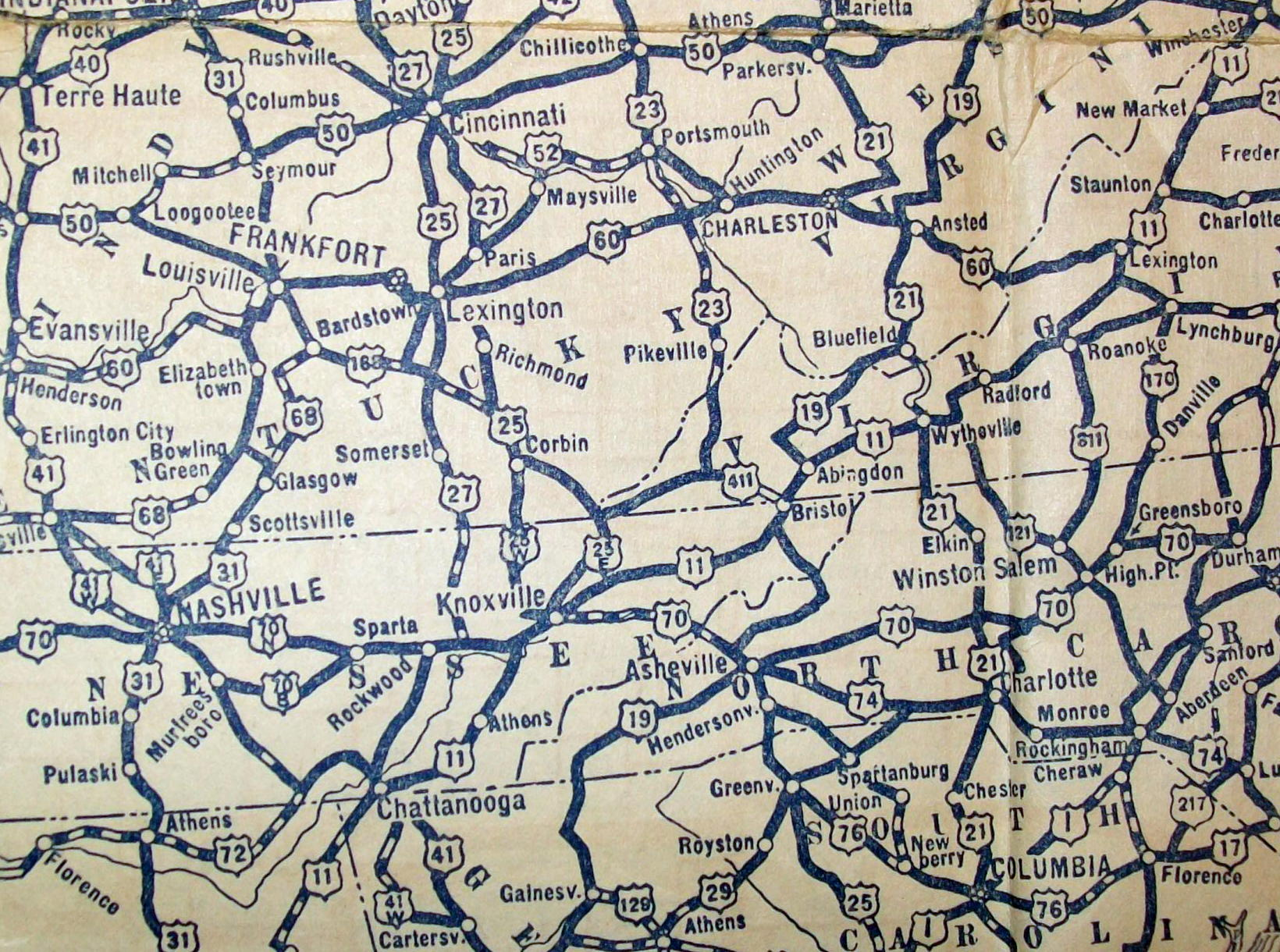 57 Southeast Us Road Map 1931 Alliance Magazine - Southeast-us-road-map