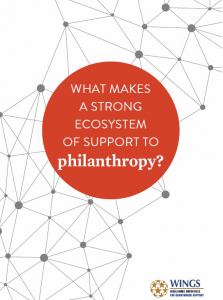 What makes a strong ecosystem of support to philanthropy?