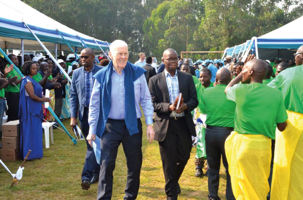 Sir Ian in Kigali, Rwanda.