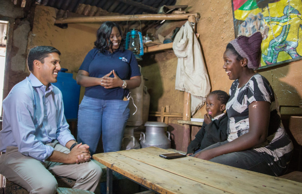 President of The Rockefeller Foundation Dr Rajiv Shah on a site visit to the Kibera Human Needs Project in Nairobi.