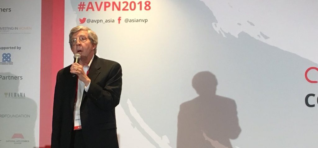 Founder and chairman Doug Miller spoke about his personal learnings to date: 'It is important that we integrate human, financial and intellectual capital, invest more in teams and collaborate more on sector basis.' Photo: @avpn_asia