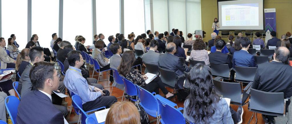 Rachel Bass sharing the GIIN's presentation. Photo credit: BNP Paribas HK