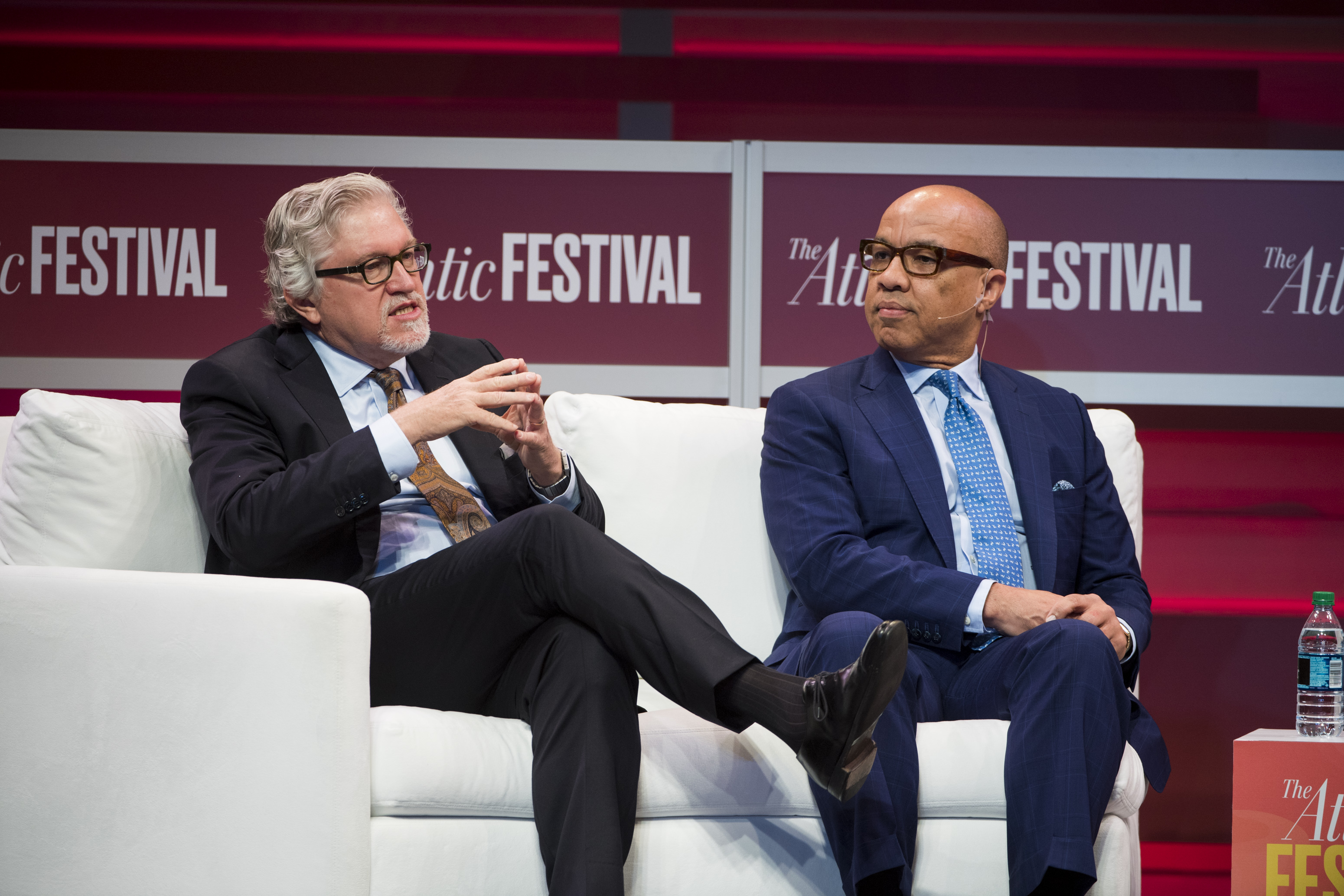 Jeff Raikes and Ford Foundation president Darren Walker discuss racial equity at the Atlantic Festival.
