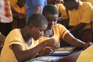 RYHTM Foundation partnered with Worldreader to sponsor an e-reading programme for the Wechiau Community Library (WCL) in Wa West District, Ghana.