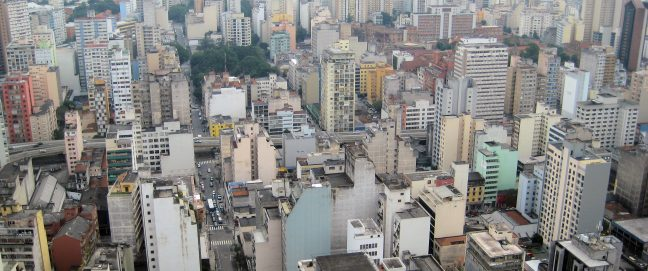 A panorama of Sao Paolo, Brazil. How is Brazilian philanthropy addressing the inequitites in this major city?
