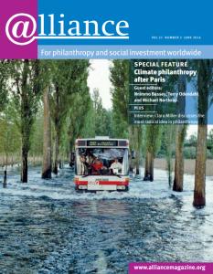 Cover image of Alliance magazine's June 2016