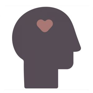 picture of a head with a heart, signifying mental health
