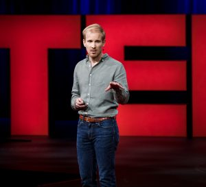 Rutger Bregman: 'stupid philanthropy schemes'. Credit: Marla Aufmuth/TED